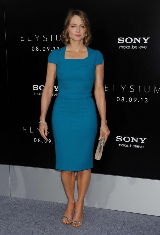 Jodie Foster at Film Premiere of Elysium -04
