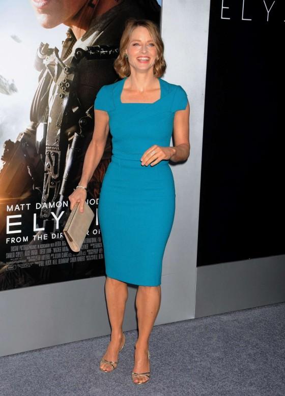 Jodie Foster at Film Premiere of Elysium -09