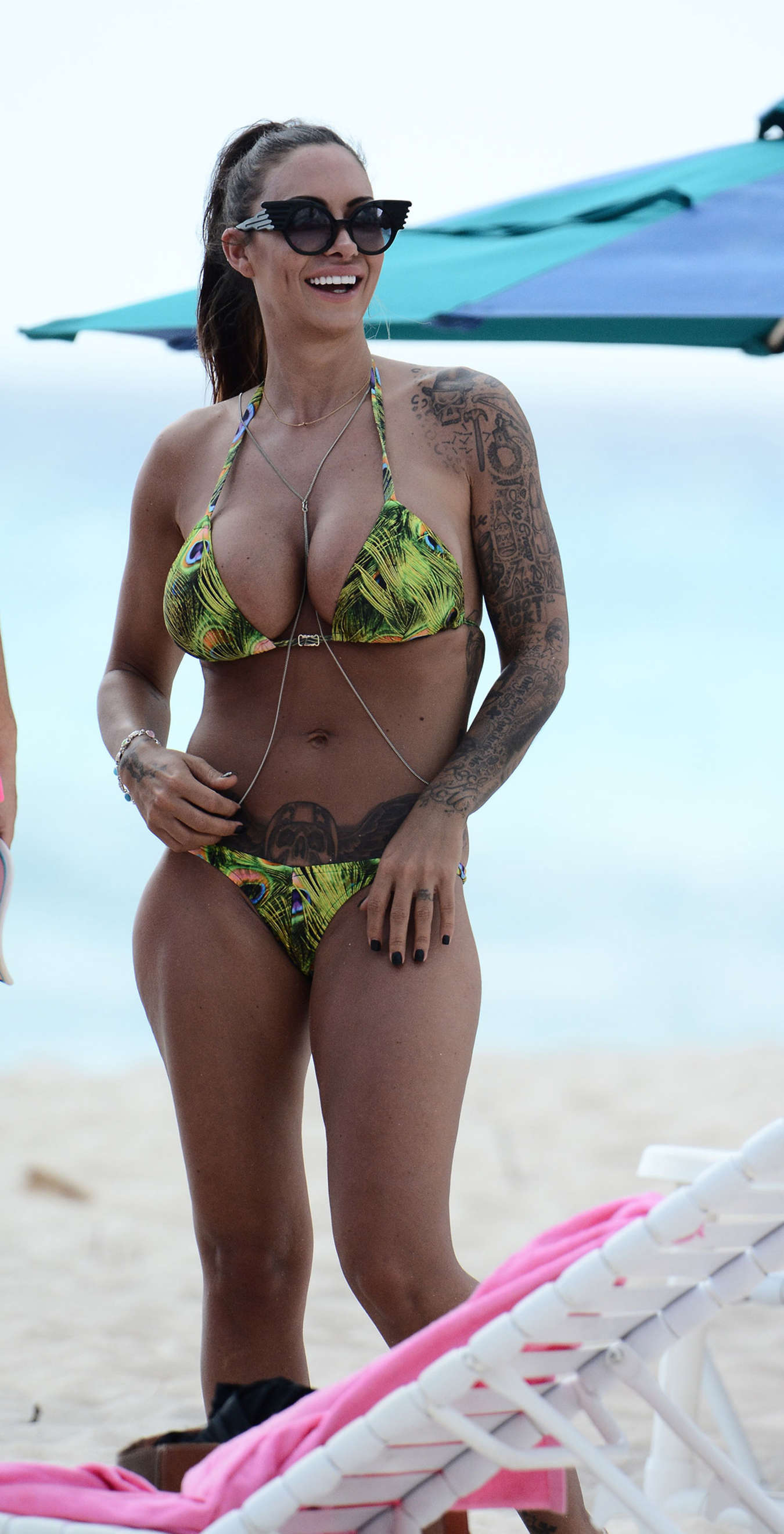 Jodie Marsh in Bikini on Barbados Beach