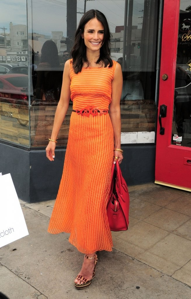 15 Jordana Eggplant 20 1 49: Jordana Brewster In A Orange Dress -15