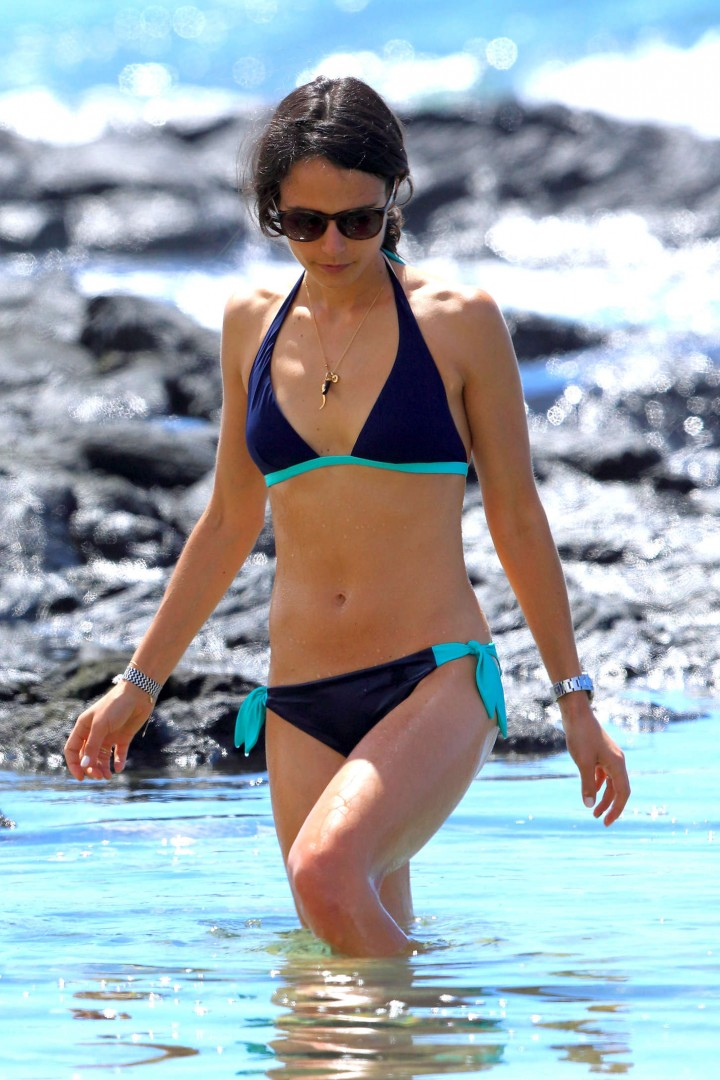 Jordana Brewster in bikini on Hawaii Beach