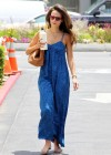Jordana Brewster Wearing Blue Dress Out in West Hollywood-06