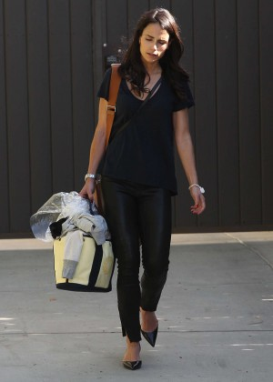 Jordana Brewster in Tight Pants - Out and about in LA