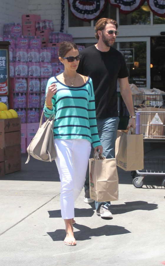 Jordana Brewster - Shopping candids at Bristol Farms in Hollywood