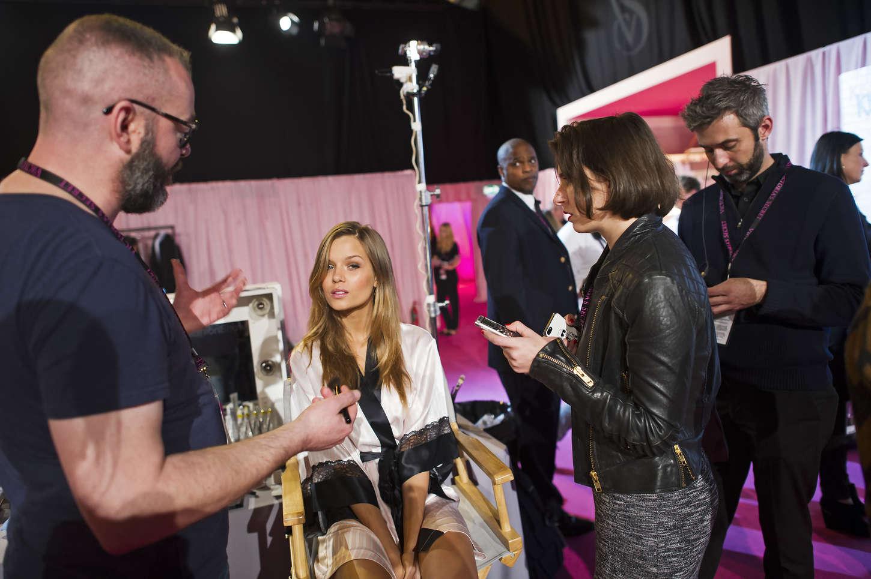 Josephine Skriver - 2014 Victoria's Secret Show Backstage in London