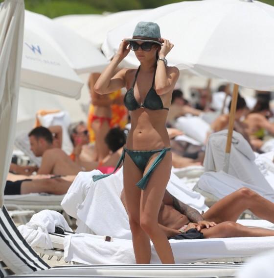 Julia Pereira – wearing a bikini in Miami -05