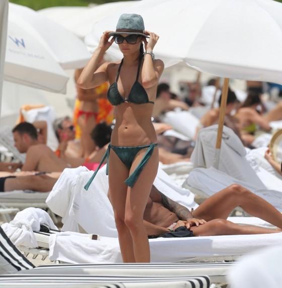 Julia Pereira – wearing a bikini in Miami -10