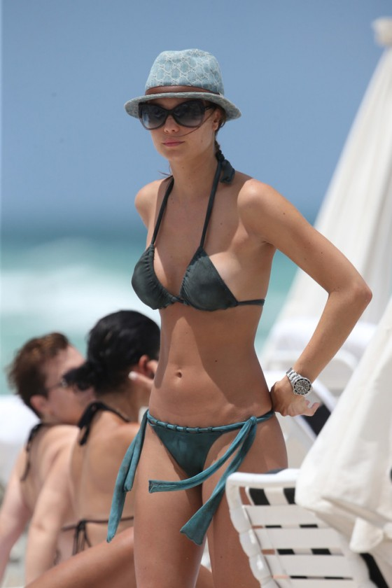 Julia Pereira – wearing a bikini in Miami -23