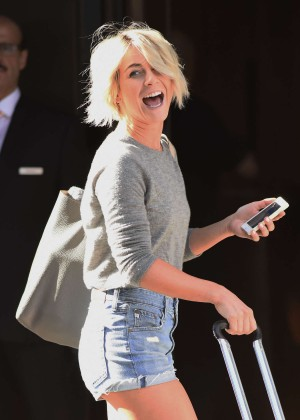 Julianne Hough in shorts at her hotel in NY
