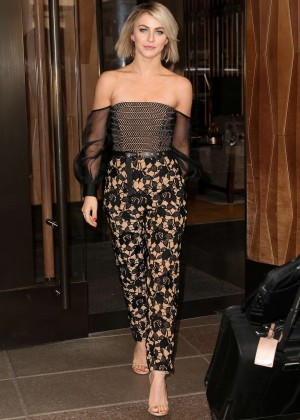 Julianne Hough - Leaving the Trump Soho Hotel in NYC