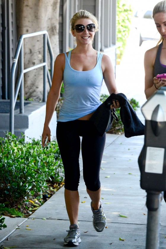 Julianne Hough in spandex in Los Angeles -14 - GotCeleb