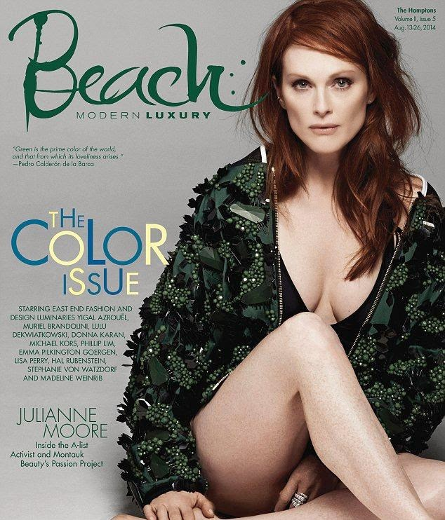 Julianne Moore - Beach Magazine (August 2014)