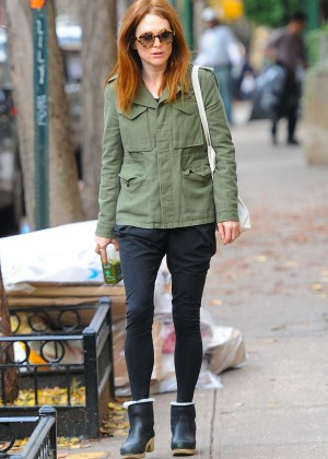 Julianne Moore Street Style out in NYC