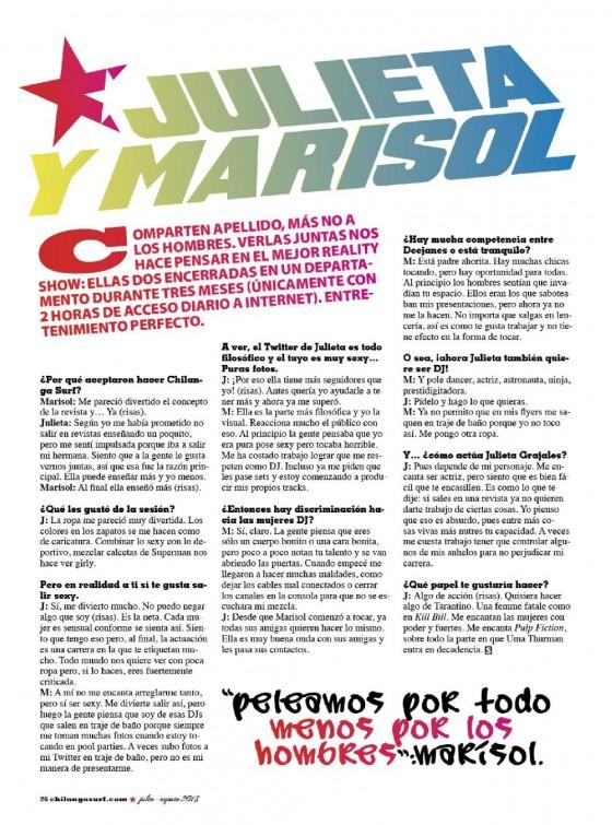 Julieta Marisol Grajales SURF Chilanga Magazine GotCeleb - O que é carrelage