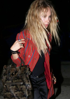 Juno Temple at Craig's Restaurant in West Hollywood