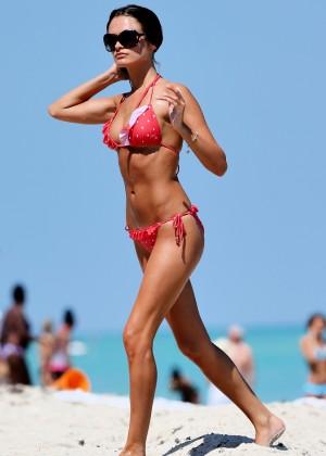Justina Kazlauskyte in a Red Bikini  -03
