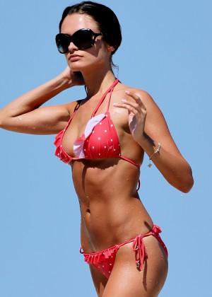 Justina Kazlauskyte in a Red Bikini  -04