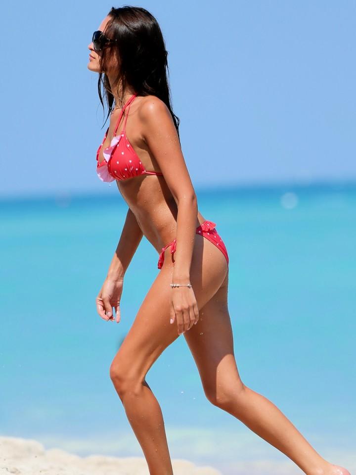 Justina Kazlauskyte in a Red Bikini  -08