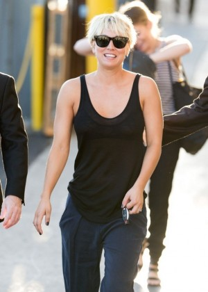 Kaley Cuoco Appeared on Jimmy Kimmel Live! in Hollywood
