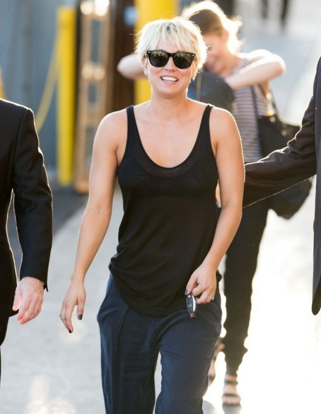 Kaley Cuoco Appeared on Jimmy Kimmel Live -06