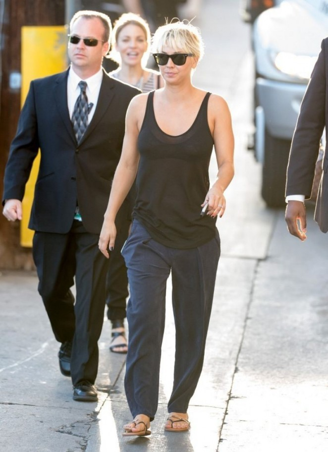 Kaley Cuoco Appeared on Jimmy Kimmel Live -08