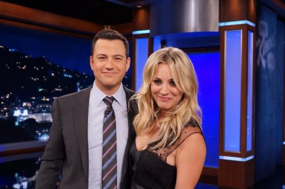 Kaley Cuoco at Jimmy Kimmel Live -02