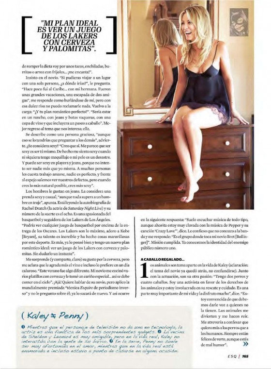 Kaley Cuoco – Esquire for Latin America – scans-10