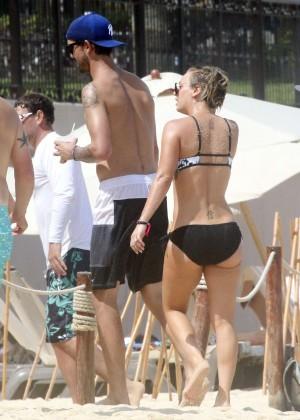 Kaley Cuoco in bikini 2014 -18