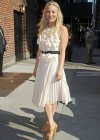 Kaley Cuoco - In White Dress at Late Show with David Letterman-01