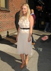 Kaley Cuoco - In White Dress at Late Show with David Letterman-03