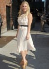 Kaley Cuoco - In White Dress at Late Show with David Letterman-04