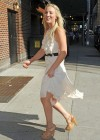 Kaley Cuoco - In White Dress at Late Show with David Letterman-05