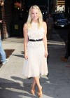 Kaley Cuoco - In White Dress at Late Show with David Letterman-06