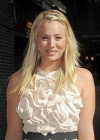 Kaley Cuoco - In White Dress at Late Show with David Letterman-08