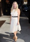 Kaley Cuoco - In White Dress at Late Show with David Letterman-09