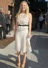 Kaley Cuoco - In White Dress at Late Show with David Letterman-11