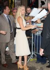Kaley Cuoco - In White Dress at Late Show with David Letterman-12