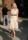 Kaley Cuoco - In White Dress at Late Show with David Letterman-15