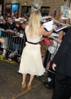 Kaley Cuoco - In White Dress at Late Show with David Letterman-17