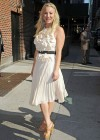 Kaley Cuoco - In White Dress at Late Show with David Letterman-18