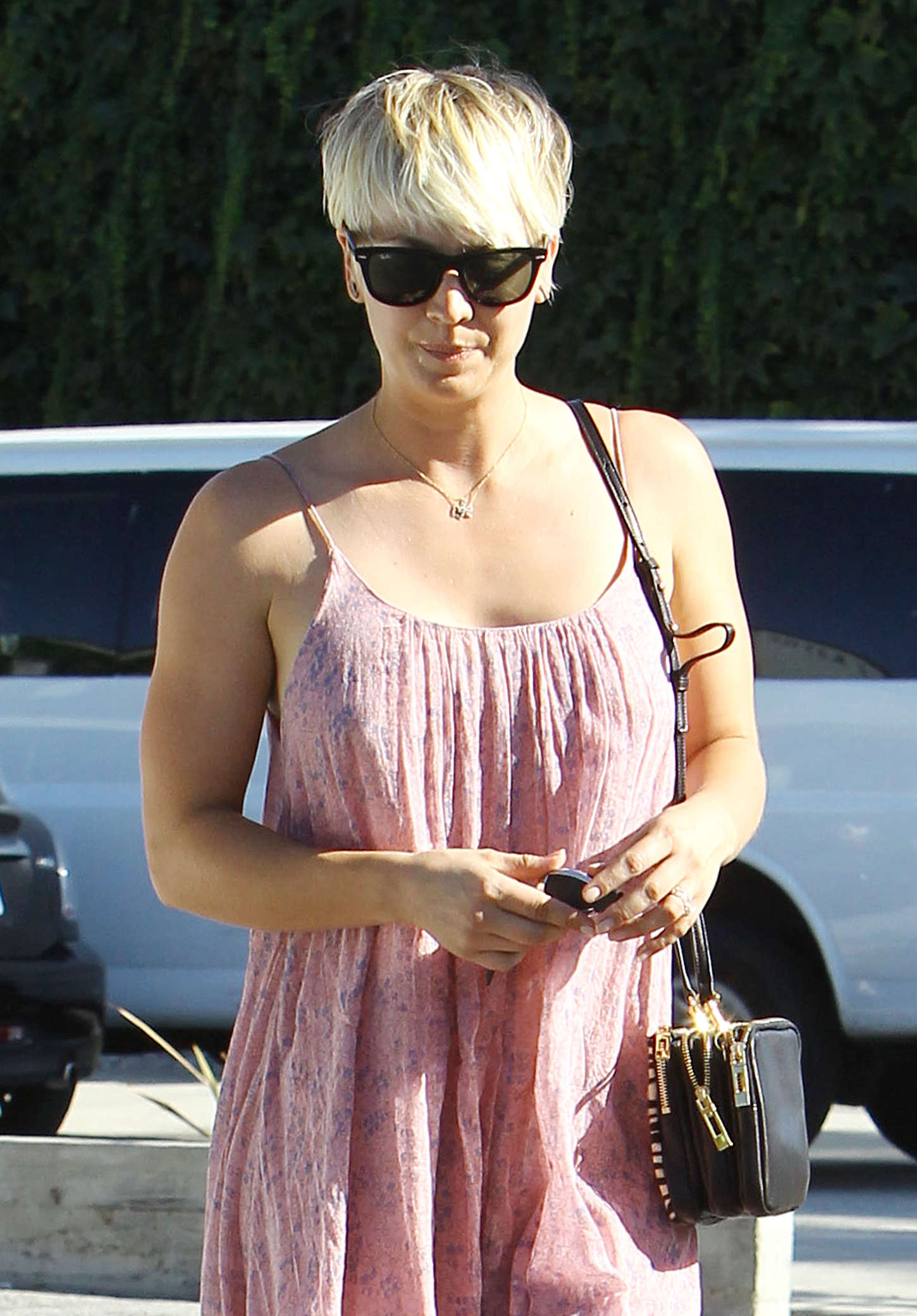 Kaley Cuoco - Leaving Andy LeCompte Salon in West Hollywood