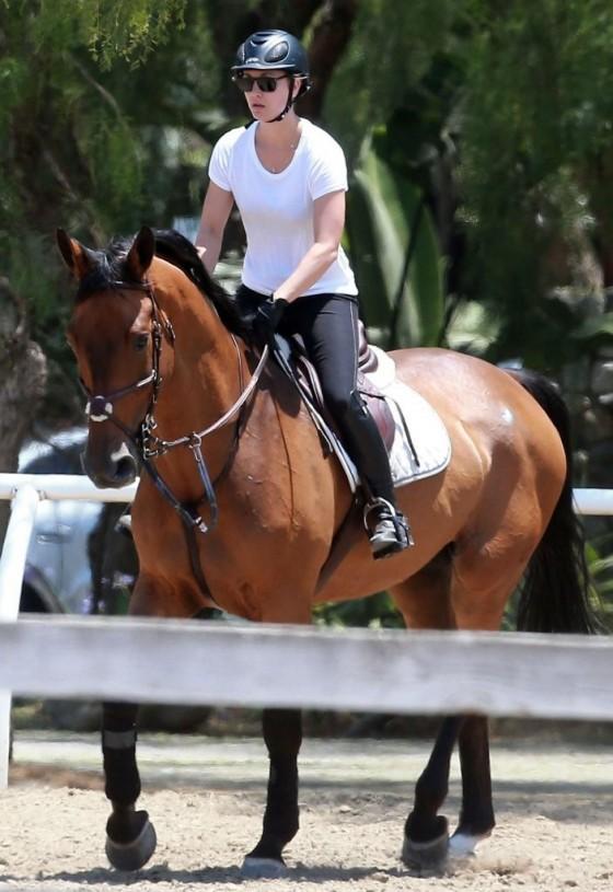 Kaley Cuoco – riding a horse in LA-15