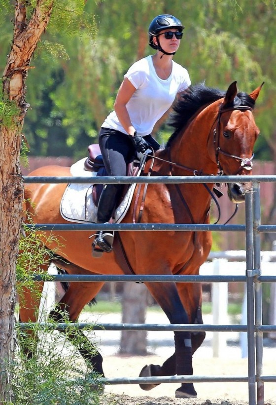 Kaley Cuoco – riding a horse in LA-24