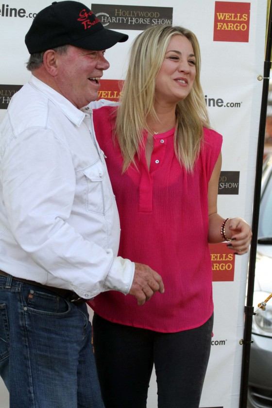 Kaley Cuoco and William Shatner -01