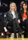 Kaley Cuoco with Julianne Hough and Nina Dobrev at the Kings vs Lakers game -14