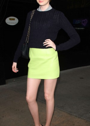 Karen Gillan in Mini Skirt at 'Good Morning America' Studios in NYC