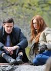 Karen Gillan - on the set of Dr Who in Central Park-03