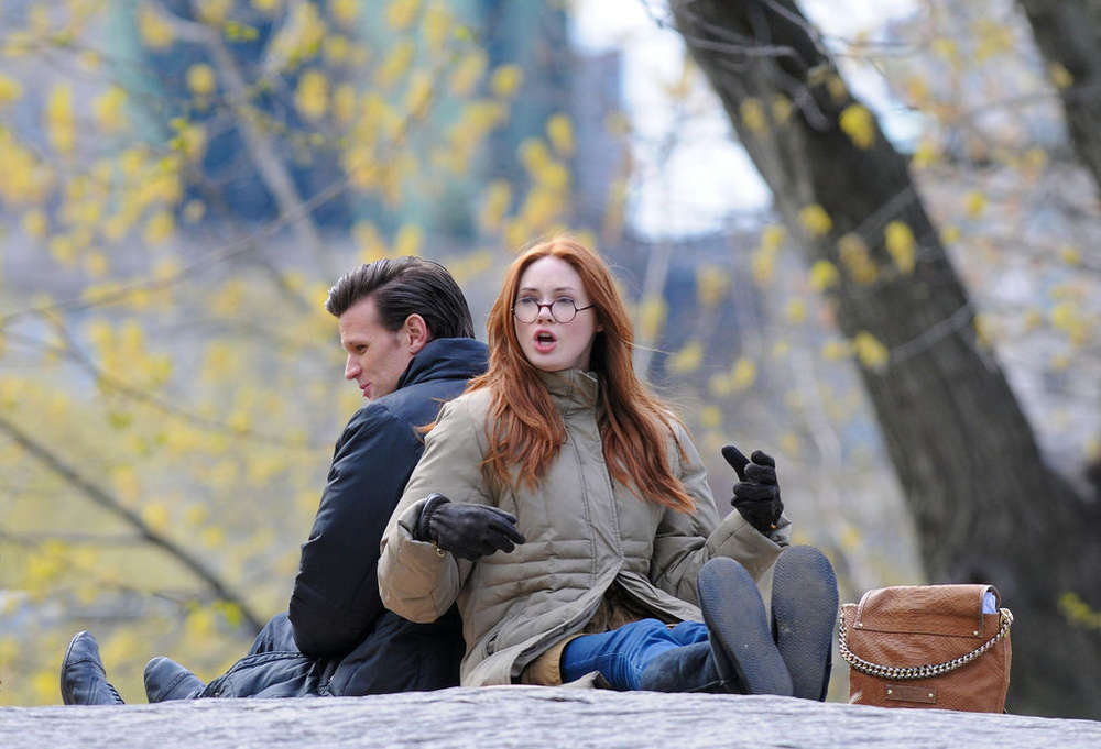 Karen Gillan – on the set of Dr Who in Central Park-10