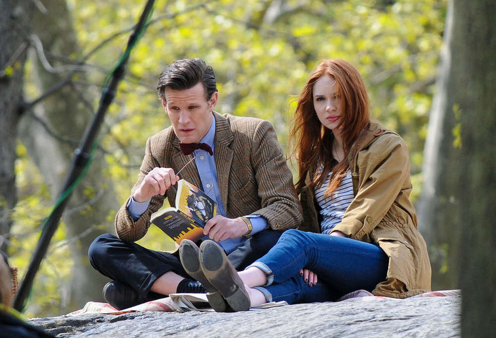 Karen Gillan – on the set of Dr Who in Central Park-11