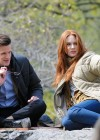 Karen Gillan - filming 'Dr Who' in Central Park